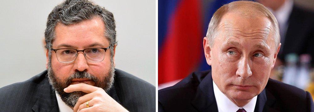 Rússia acena com retaliação depois de ataques de Araújo