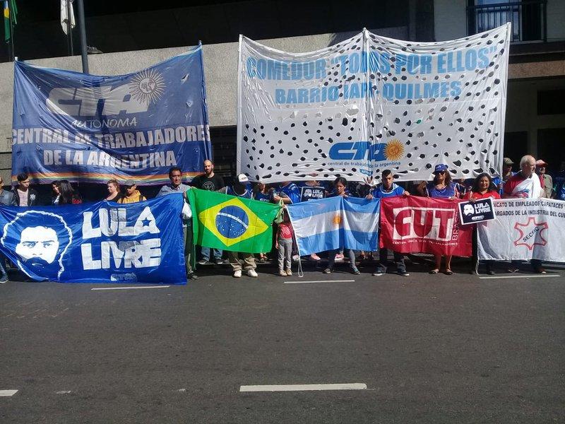 Atos por Lula Livre na Argentina