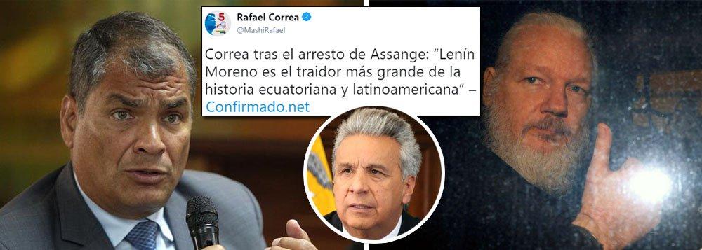Rafael Correa: Lenin Moreno é o maior traidor da história da América Latina