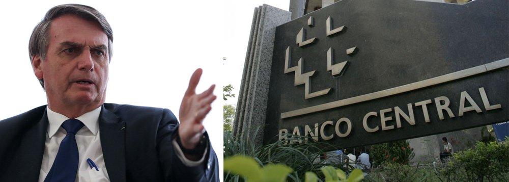 Bolsonaro envia ao Congresso projeto de independência do BC