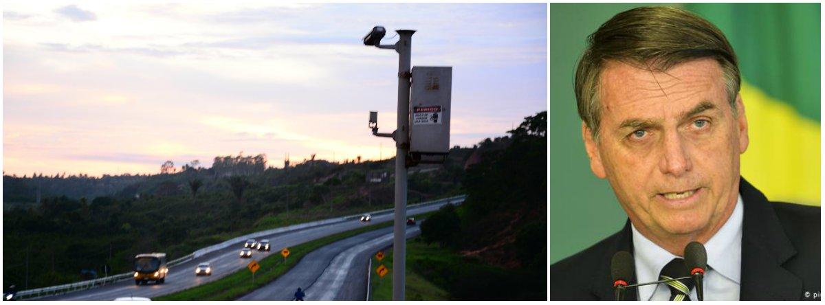 Juíza manda Bolsonaro manter radares em rodovias federais