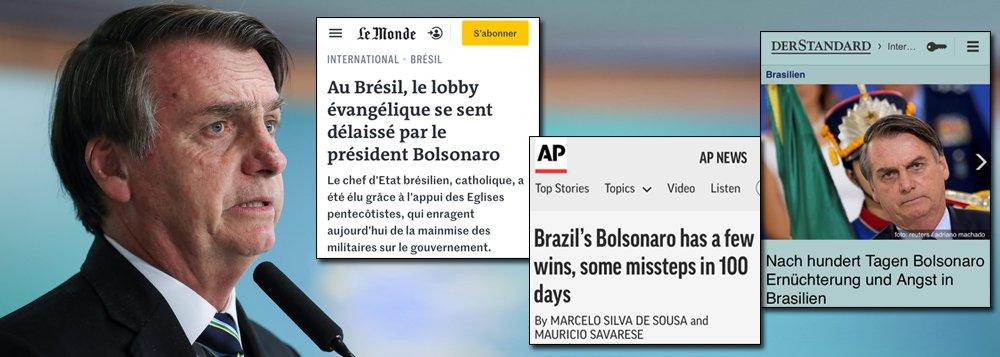 Em 100 dias, Bolsonaro destrói a imagem do Brasil no mundo