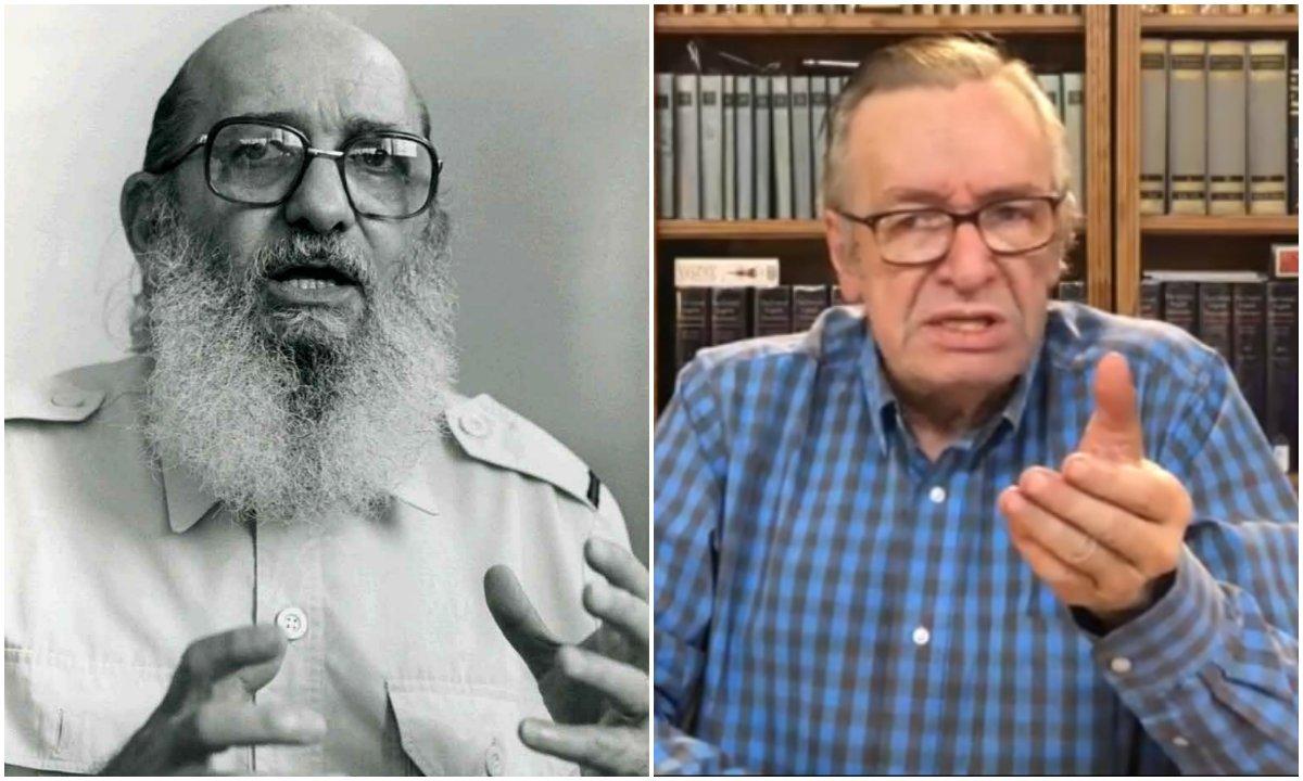 Lula e Freire x Bolsonaro e Olavo