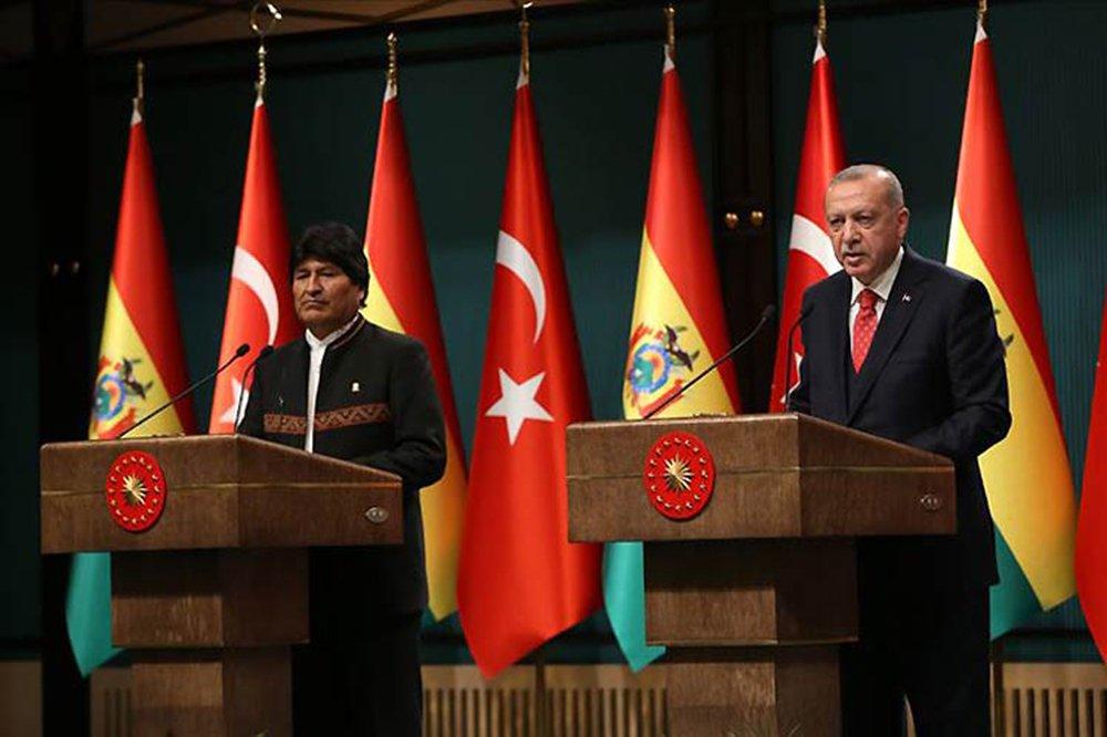 Bolívia e Turquia assinam acordos de colaboração econômica