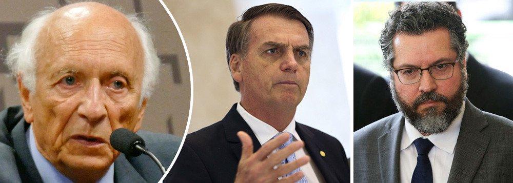 Ricupero denuncia política externa de destruição e diz que Bolsonaro não é apresentável ao mundo
