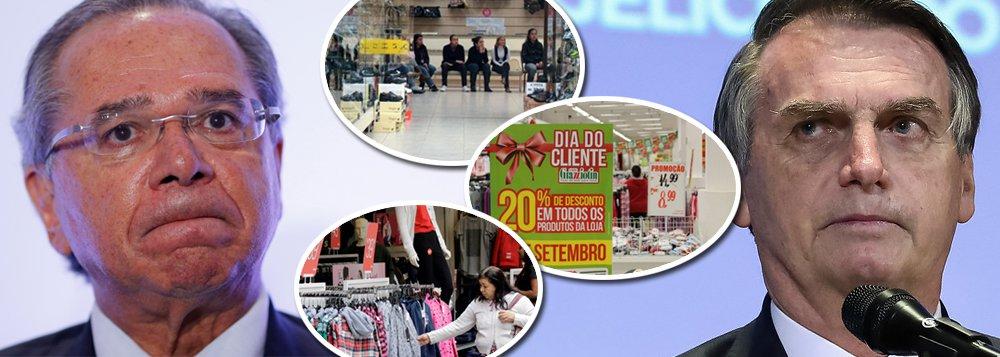 Consumo dos brasileiros tem queda recorde com Guedes e Bolsonaro