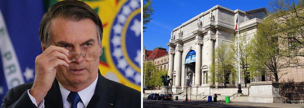 Museu de Nova York deve cancelar evento com Bolsonaro