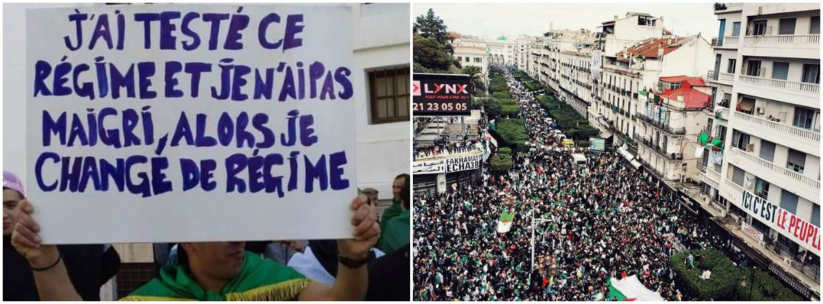Povo da Argélia vai às ruas em massa e faz governo renunciar