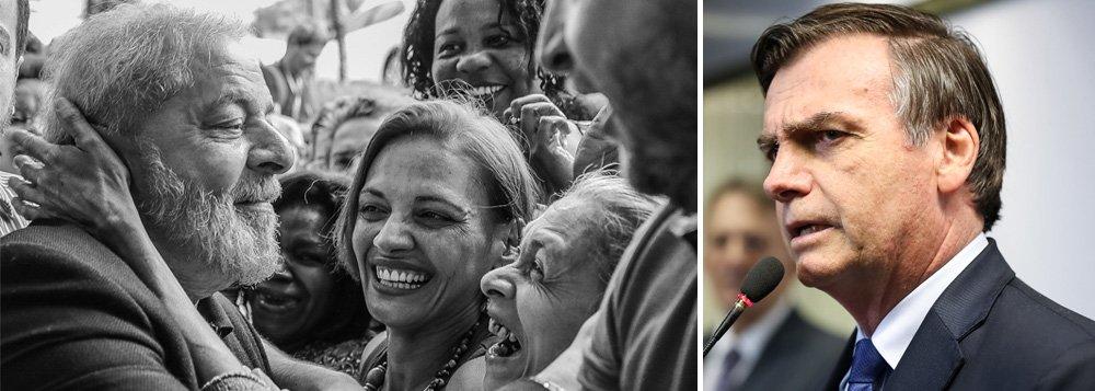 Lula e Bolsonaro: vidas contrapostas