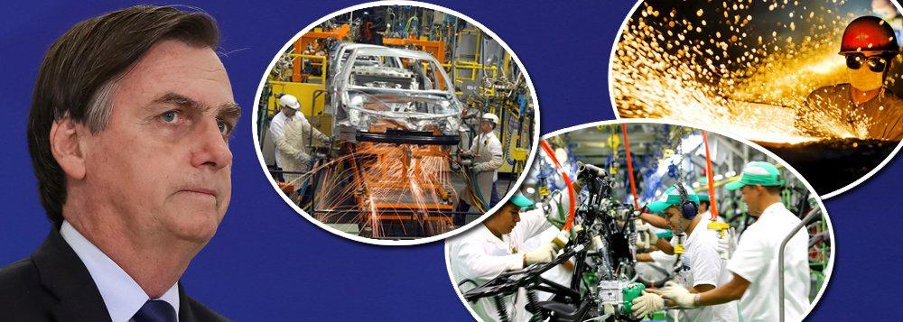 Participação da indústria na economia brasileira é a menor da história
