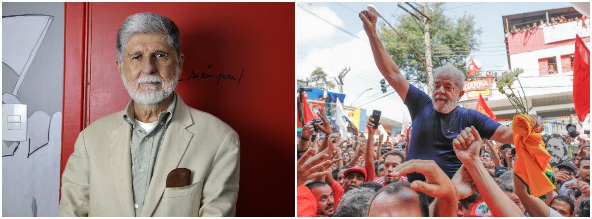 'Lula livre, Lula Nobel', defende Celso Amorim