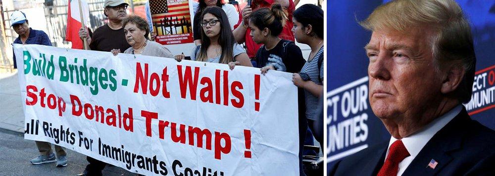 Trump volta a atacar imigrantes: 'EUA estão cheios'