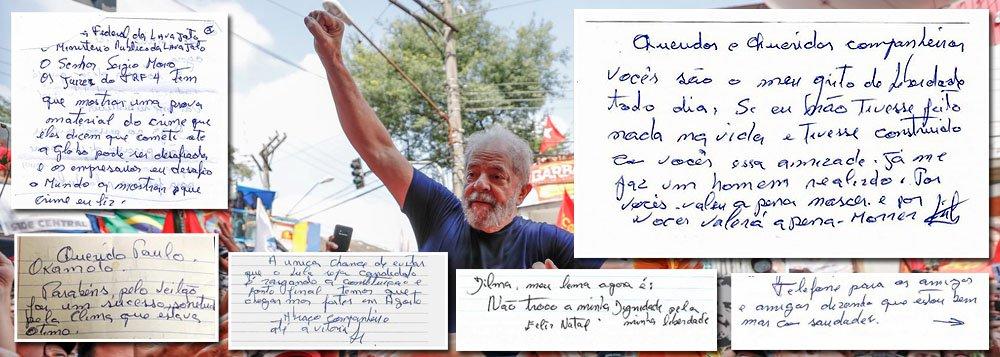 Um ano da prisão política de Lula em cartas emocionantes