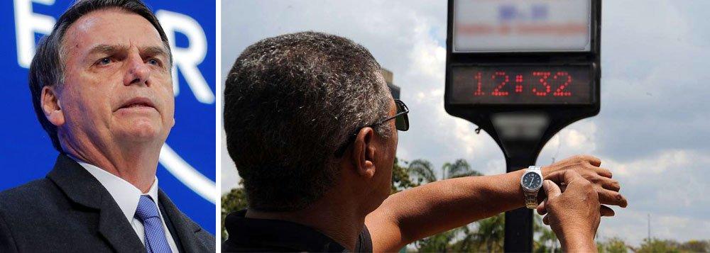 Bolsonaro confirma que não haverá horário de verão em 2019