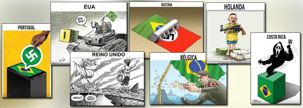 Chargistas de todo o mundo mostram repulsa internacional a Bolsonaro