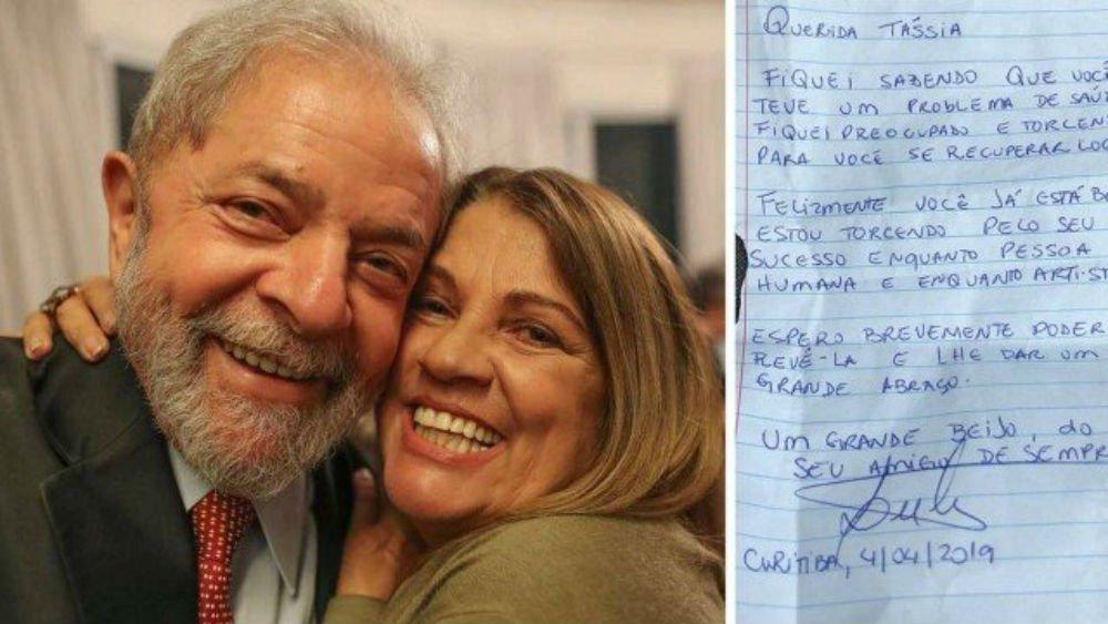 Após passar por UTI, Tássia Camargo se emociona com carta de Lula: meu maior e melhor presidente