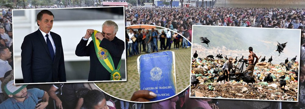 A miséria da dobrada Temer-Bolsonaro