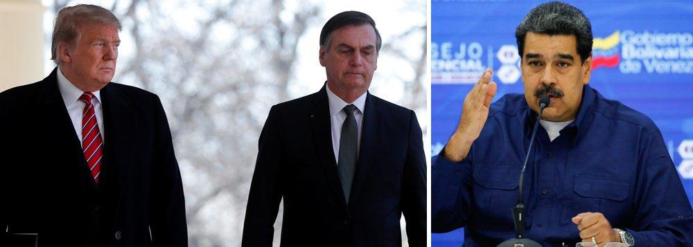 Bolsonaro admite hipótese de invasão militar na Venezuela