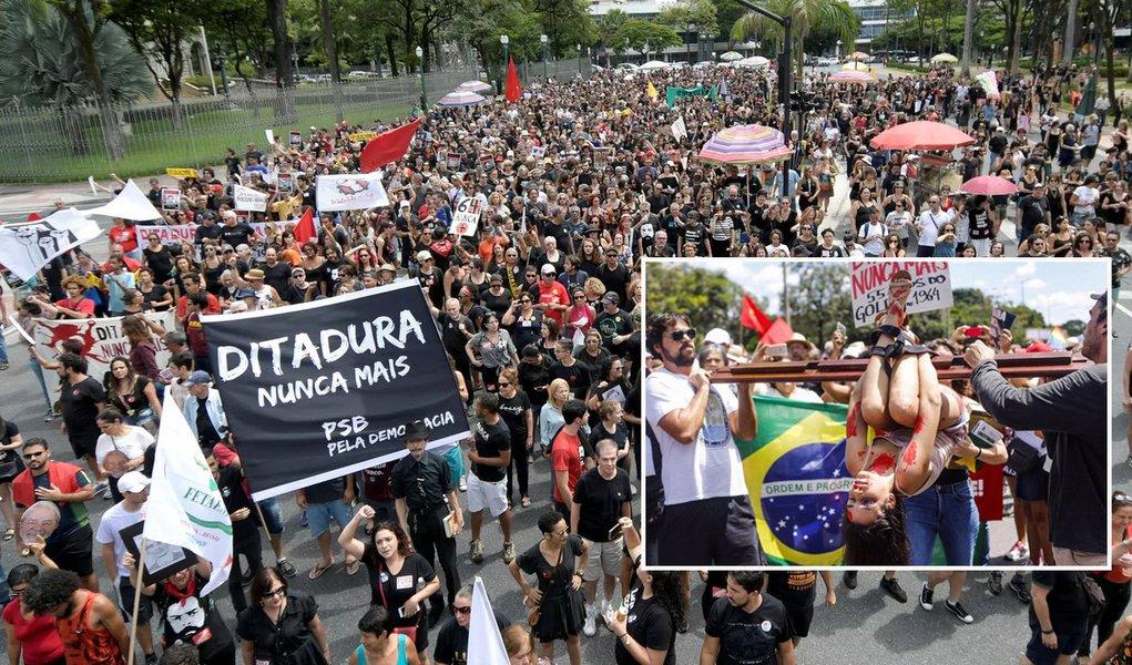 Milhares protestam contra a Ditadura Militar em várias cidades do País