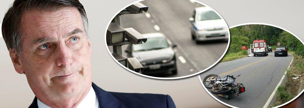 Bolsonaro elimina radares nas estradas do país que mais mata no trânsito