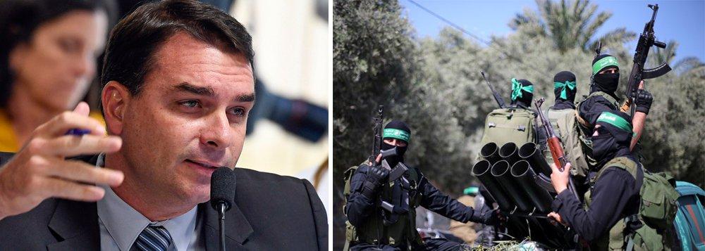 Crítica de Flávio Bolsonaro ao Hamas gera indignação na internet