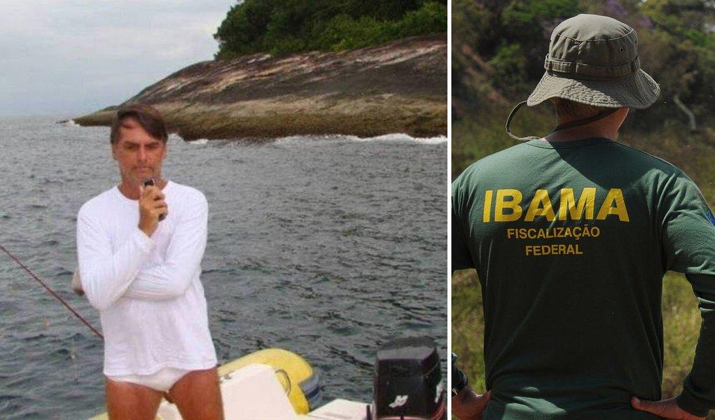 Ibama demite servidor que multou Bolsonaro por pesca irregular
