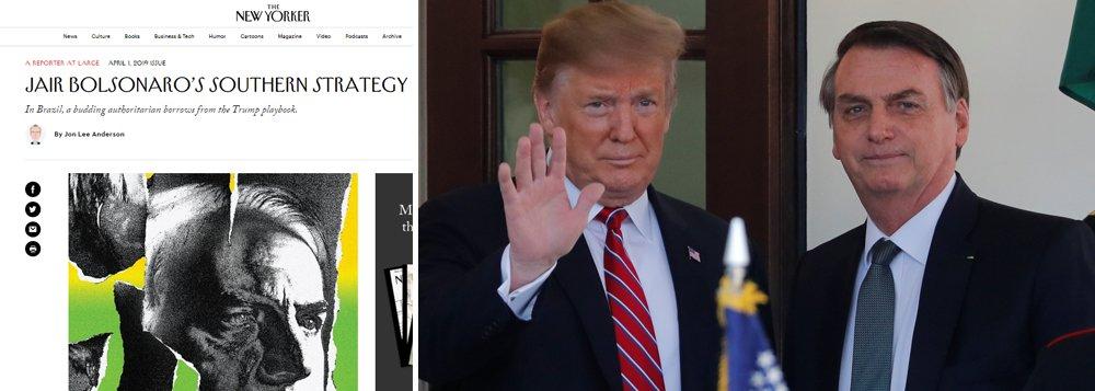 Bolsonaro é um autoritário que toma emprestado o manual de Trump, diz jornal americano