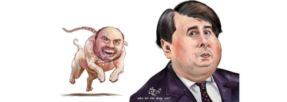 Aroeira: Bolsonaro solta seu pitbull pra cima de Rodrigo Maia