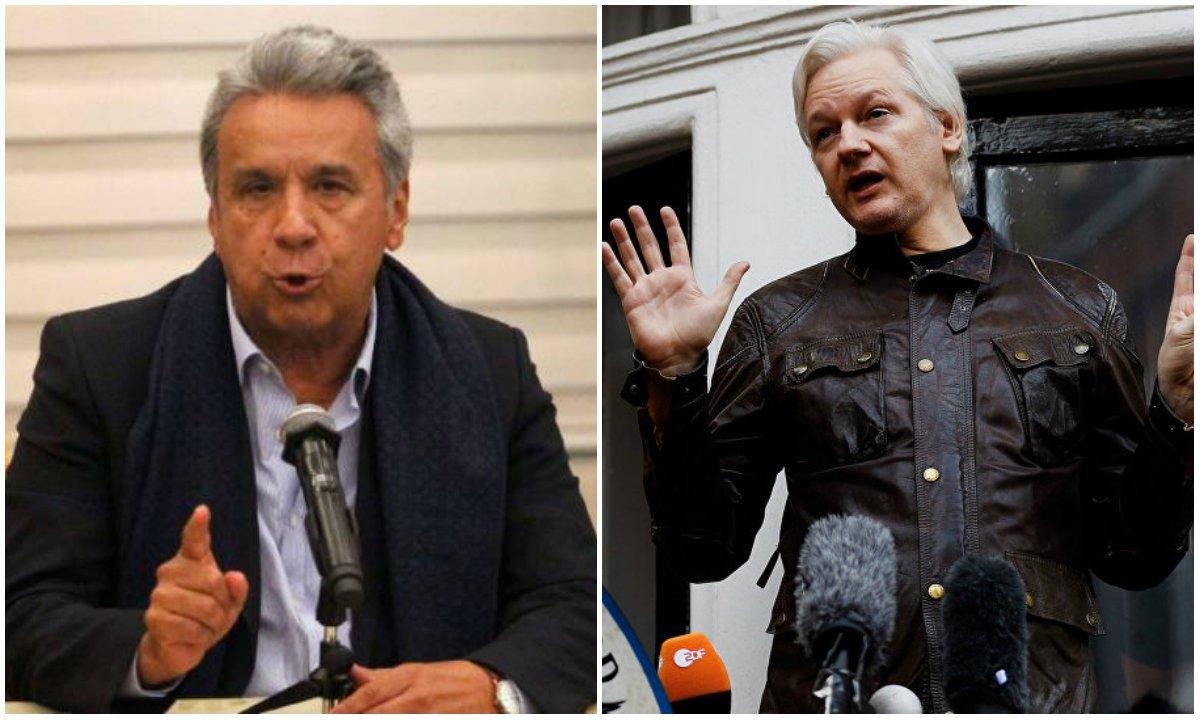 """Bomba: Wikileaks revela que Lenin Moreno """"vendeu"""" Julian Assange aos EUA em troca de redução na dívida do Equador"""
