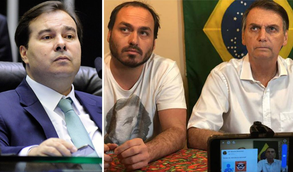 Carlos Bolsonaro insinua que Rodrigo Maia quer chantagear o governo