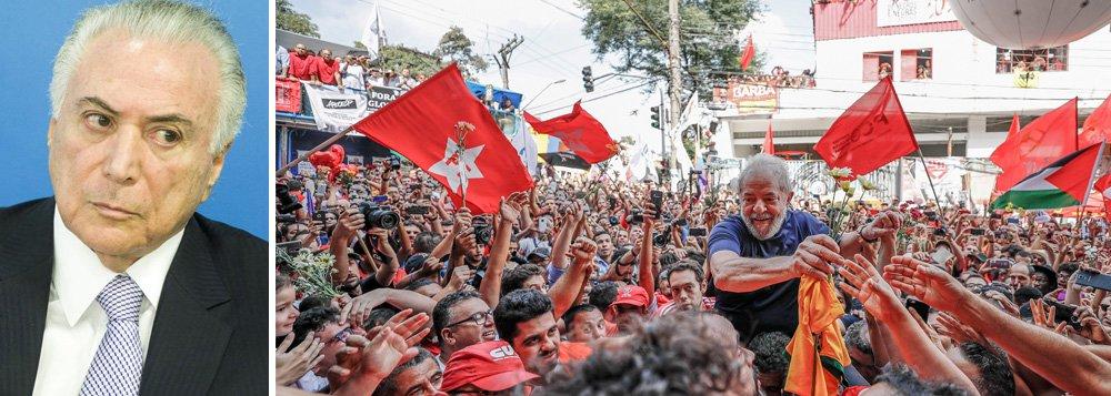 Constituição que vale para Temer não vale para Lula