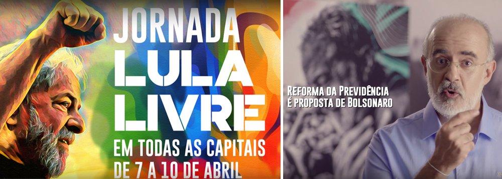 Em novo vídeo, campanha Lula Livre condena reforma da Previdência