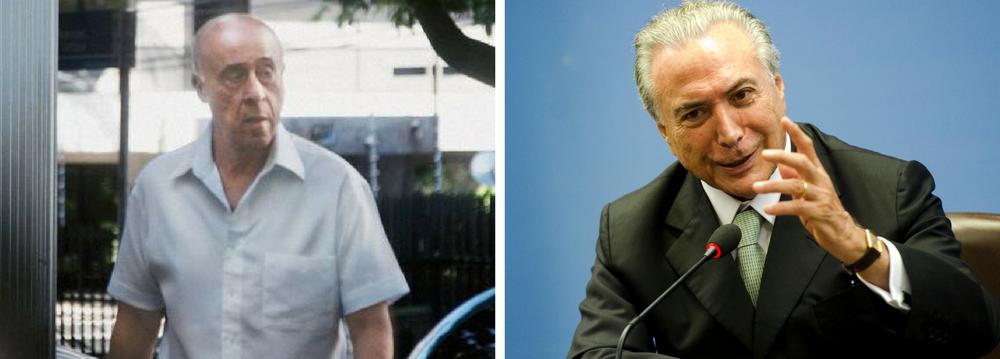MPF diz que Temer e Coronel Lima atuam há décadas para desviar recursos públicos