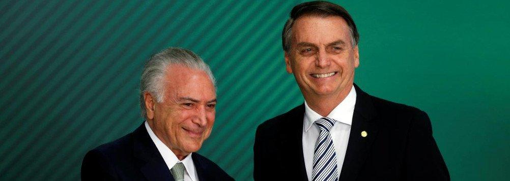 Bolsonaro lava as mãos em relação a Temer: 'Cada um responda pelos seus atos'