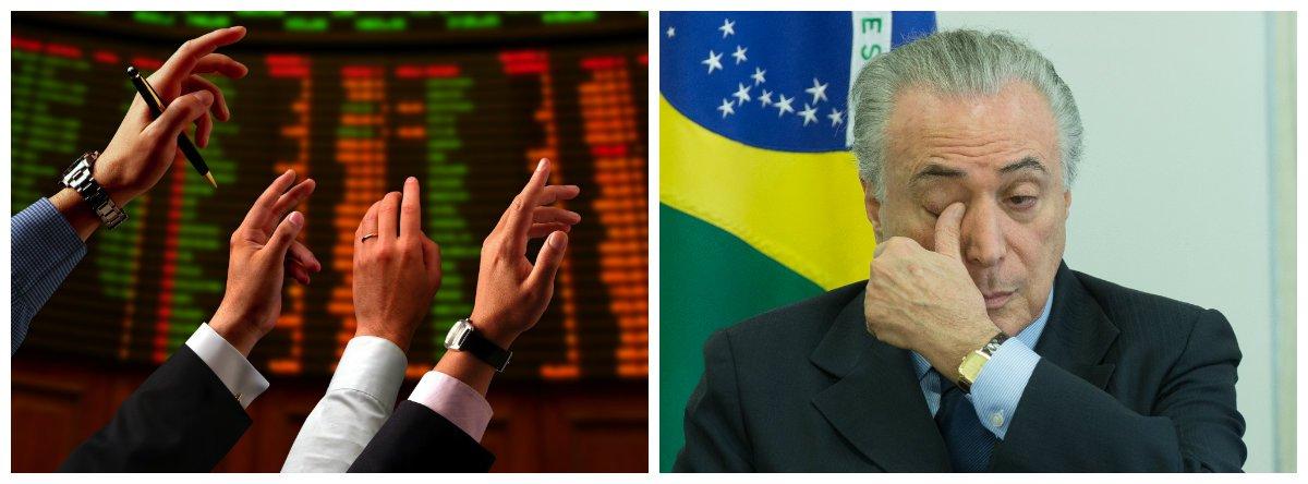 Bolsa despenca e aumenta pressão sobre o dólar com prisão de Temer