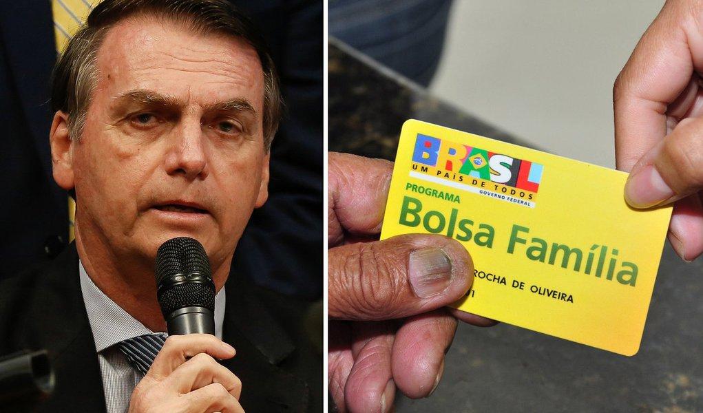 Sem ter o que mostrar em 3 meses de governo, Bolsonaro ataca o Bolsa Família