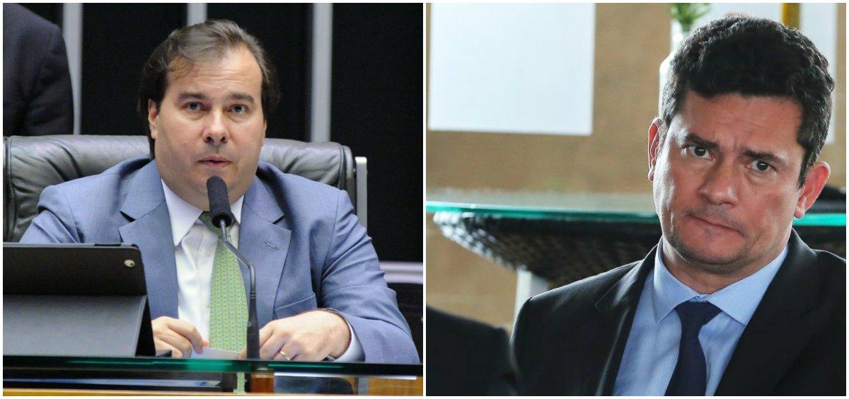 Moro 'conhece pouco de política' e é 'funcionário de Bolsonaro', diz Maia