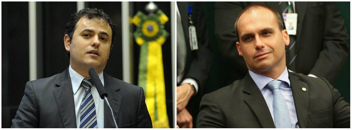 Glauber Braga e Eduardo Bolsonaro trocam farpas na Câmara