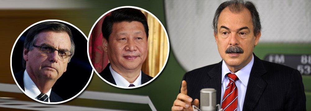 Mercadante: agressão de Bolsonaro à China terá consequências