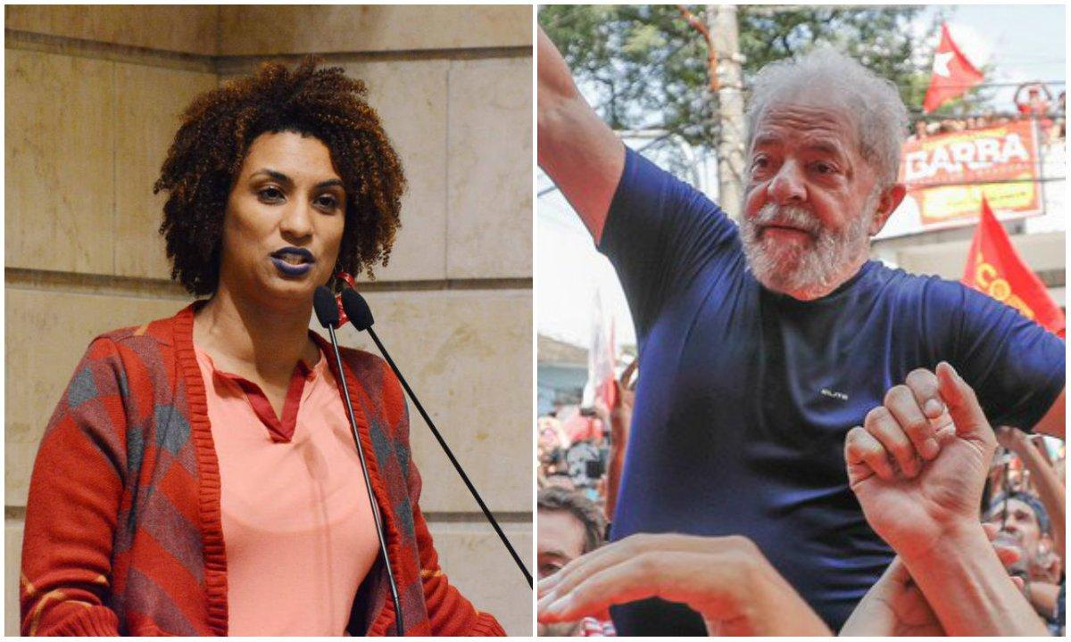 Marielle e Lula são os principais nomes da esquerda no Brasil