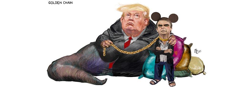 Trump põe a coleira em Bolsonaro, aponta Aroeira