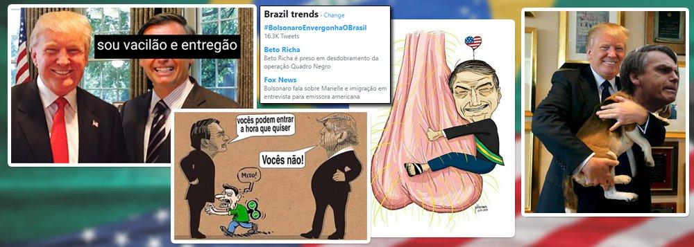 'Bolsonaro Envergonha O Brasil' é assunto mais comentado nas redes