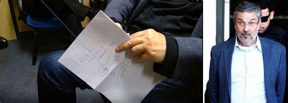 Armação premiada: MPF pediu para Palocci esconder folha com anotações em depoimento
