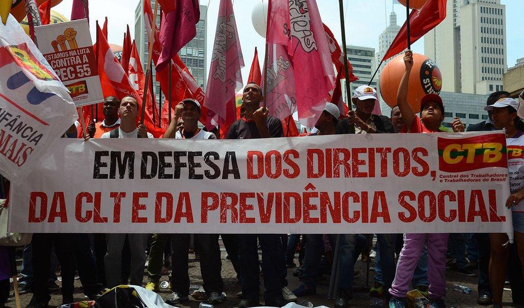 Atos contra a Reforma da Previdência ocorrem em 126 cidades de todo o País