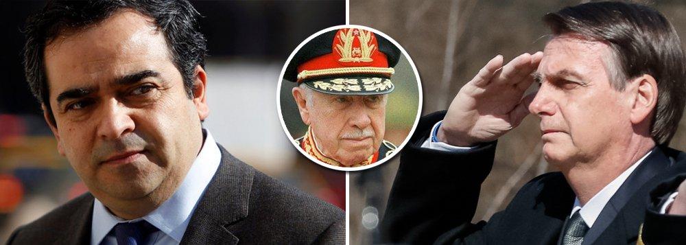 Senador diz que Bolsonaro não é bem-vindo ao Chile porque é admirador de Pinochet
