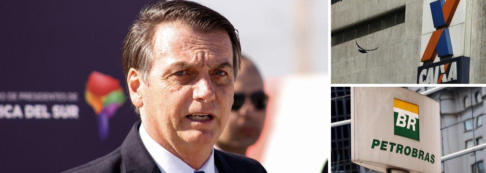 Bolsonaro autoriza Caixa a vender ações da Petrobrás sem aval do governo