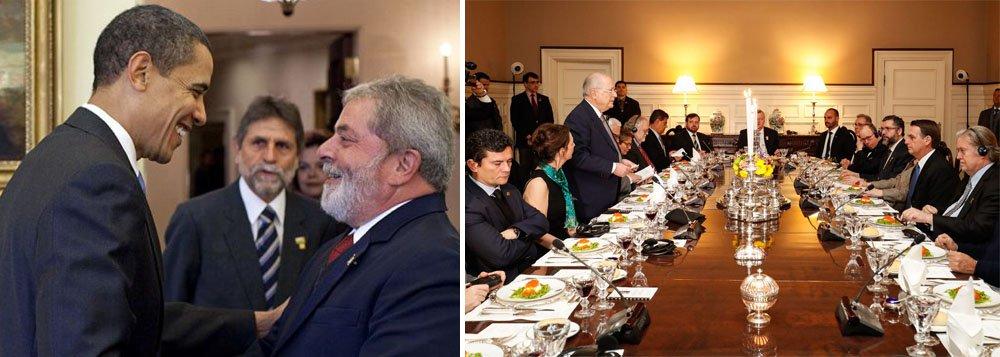 Lula falava de igual para igual com os grandes líderes mundiais. Quanta diferença!