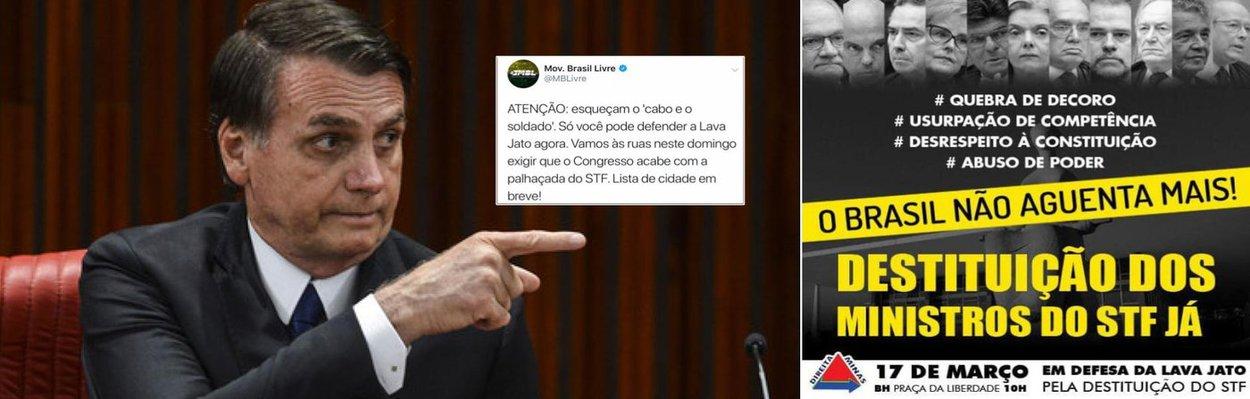 Bolsonarismo convoca guerra nas ruas contra o STF: instituições sob ameaça