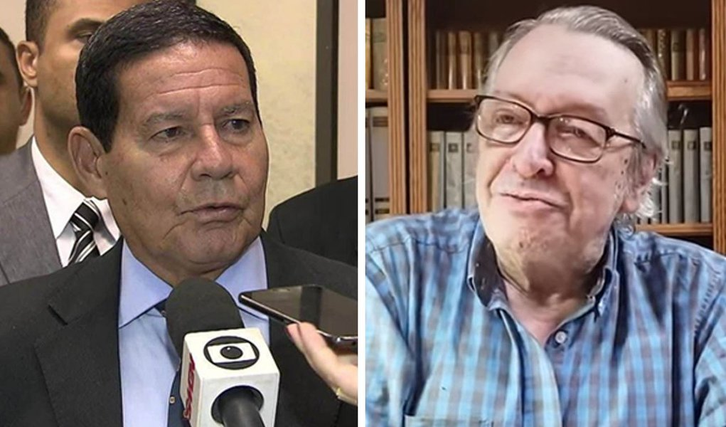 Olavo volta a atacar Mourão e diz que é milagre Bolsonaro estar vivo