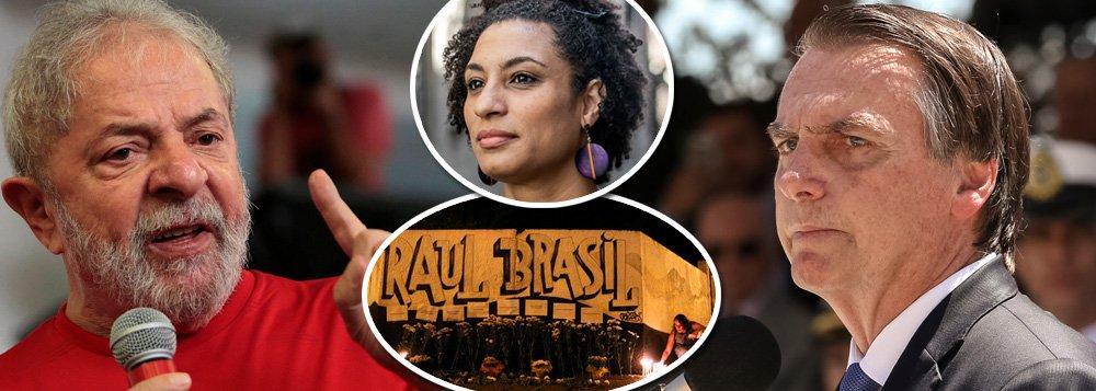 Lula e Bolsonaro contemplam Suzano e Marielle: visões opostas